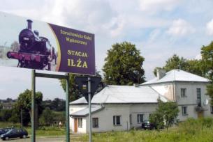 Stacja kolejki wąskotorowej w Iłży