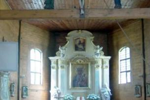 Wnętrze kościoła w Radkowicach