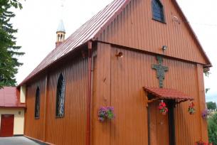 Kościół pw. św. Zofii w Ratajach - widok na nawę boczną