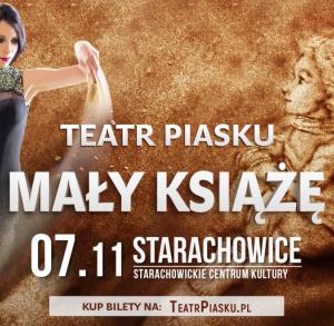 """Teatr Piasku z pokazem """"Mały Książę"""" w Starachowicach"""