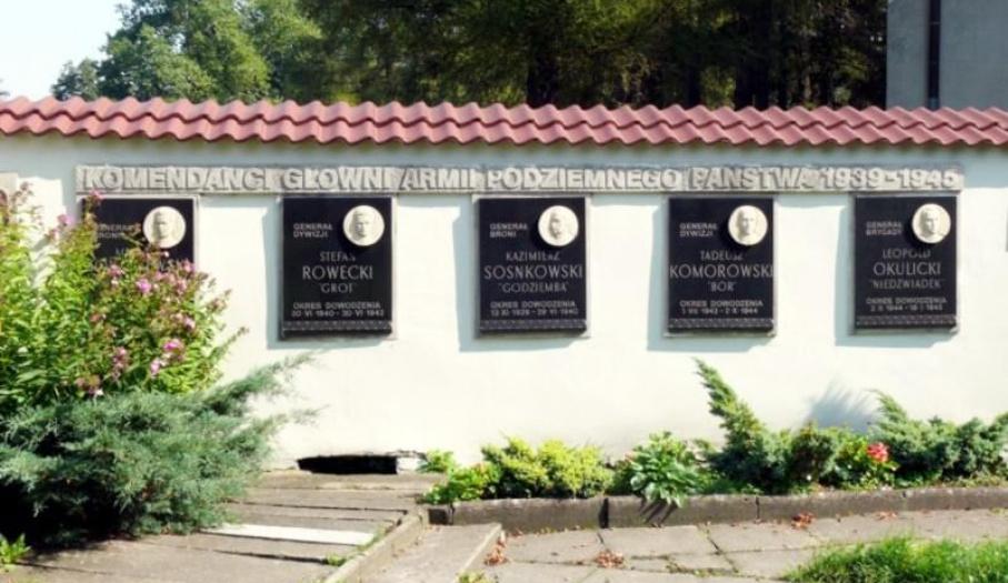 Tablice pamiątkowe na terenie Klasztoru